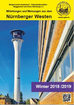 Ausgabe Winter 2018/2019 unseres Mitteilungsheftes